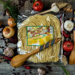 Спагетти на домашнем тесте