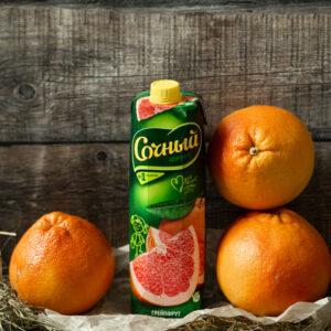 Грейпфрутовый нектар пастеризованый и асептически упакованный